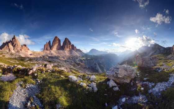 landscape, rock, красивый, discover, ноутбук, mac, облако, гора, ущелье, sun, montage