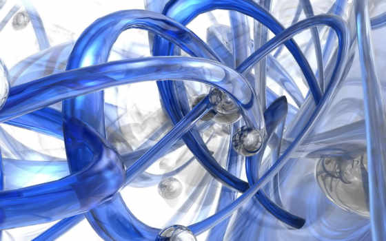 tubes, blue, сфера