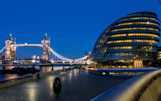 город, мост, london