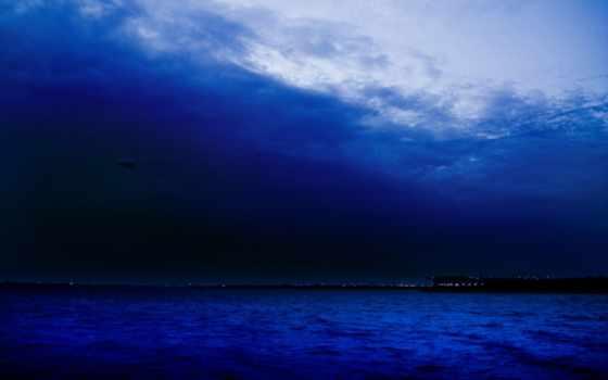 небо, синее, природа