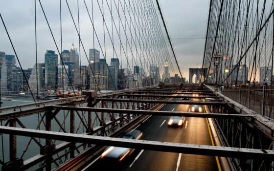 мост, город, usa