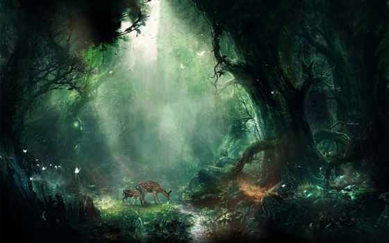 fantasy, full, jungle, олени, nice, страница, browse, лисенок, фэнтези,