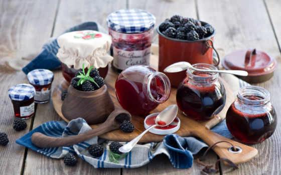 berries, blackberries, еда, джем, candy, хлеб,