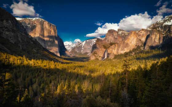yosemite, горы, park, national, взгляд, красиво, природа, alcatel, заставки, долина,