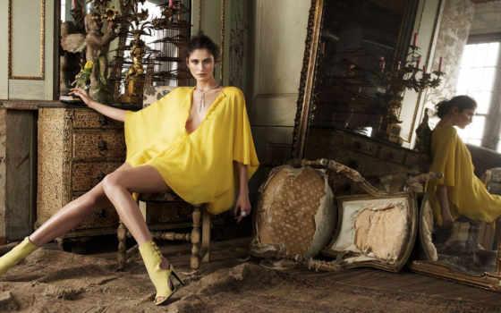 девушка, платье, yellow, girls, об, images, pinterest, зеркало,