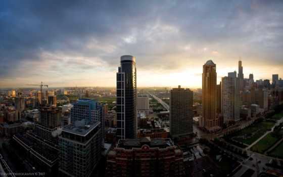 город, взгляд, дома, landscape, высотки, full, interfacelift, панорамный, весь, york,