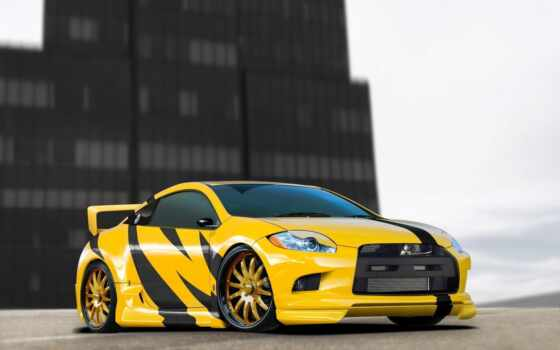 black, yellow, car, mitsubishi, cars, фон, об, videos, covering,