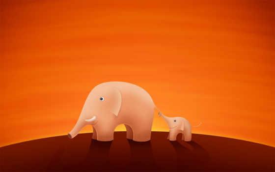 телефон, you, слон, день, cartoon, оранжевые, fathers,