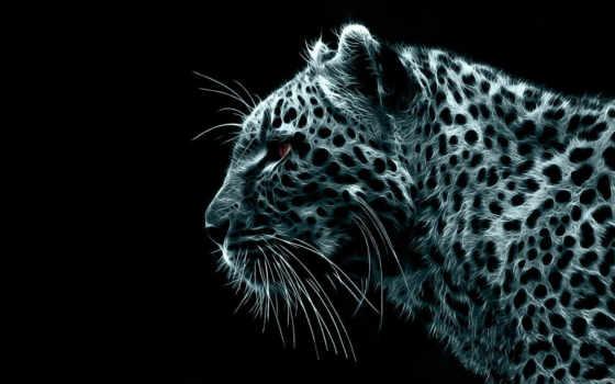 леопард, рисованный