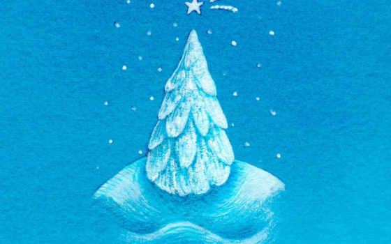 christmas, blue