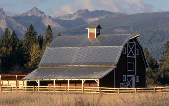 montana, ravalli, уезд, free, barn, screensavers, islands, places,