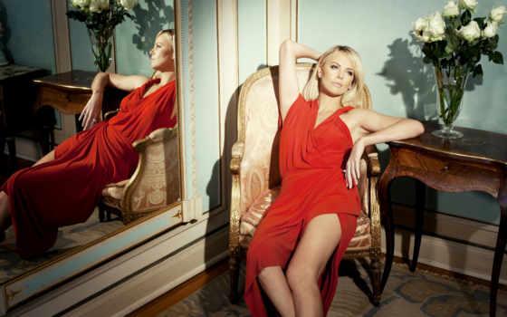 theron, charlize, red, платье, красное, девушка, women,