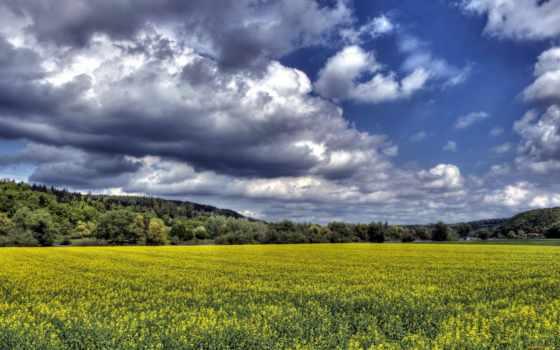 небо, scenery, природа, hdr, поля, clouds, изображение, pictures,