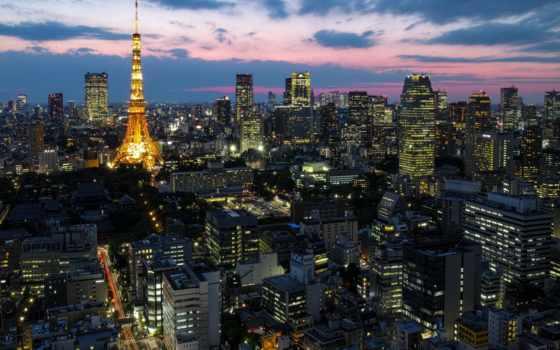 tokyo, tokio, japanese, япония, столица, мегаполис, огни, ночь, синее,здания,