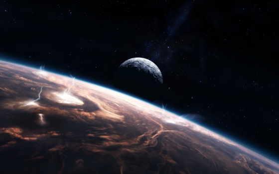 cosmos, lightning, астронавт