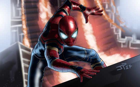 паук, мужчина, war, бесконечность, avengers,