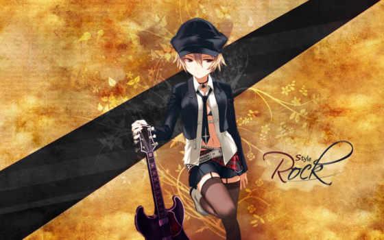 guitar, anime, girl