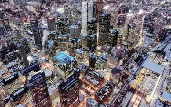 toronto, free, ночь, widescreen, downtown, high, desktop,