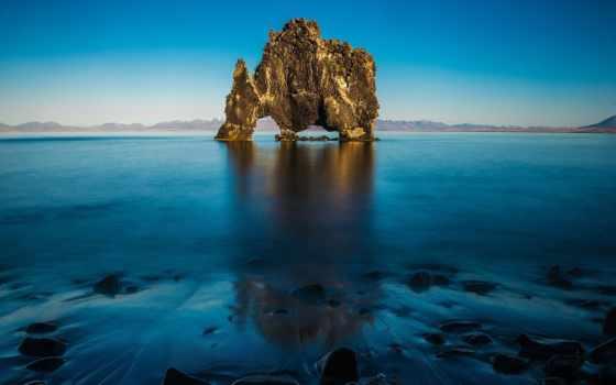 iceland, горы, море