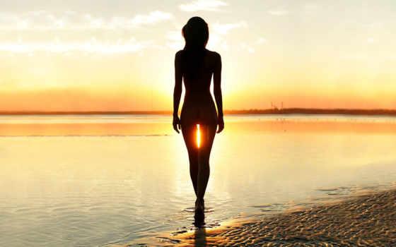 силуэт, devushki, море, аватар, fone, закат, заката, water, sun, девушка, альбома,