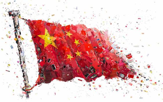 флаг, китаянка, alibaba