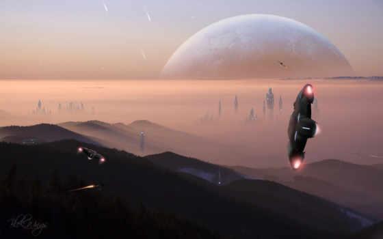 город, планета Фон № 23007 разрешение 1680x1050