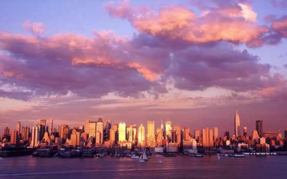панорама, облака