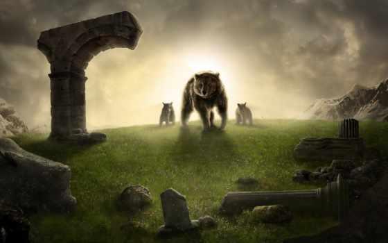 медведь, house, креативных,, mysticism, широкоформатные,, king,