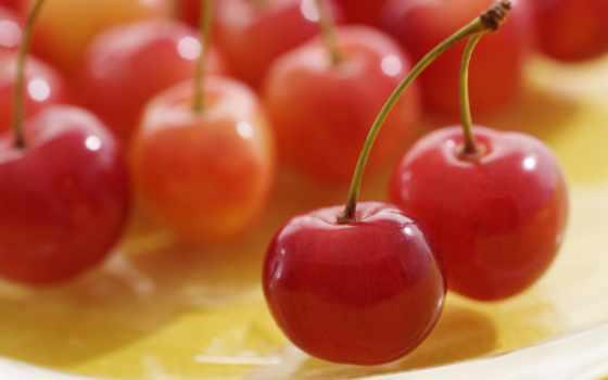 cherry, спелая, еда