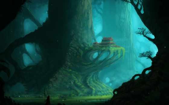 дереве, lodge, девушка