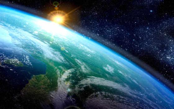land, cosmos, sun, атмосфера, art, звезды, картинка, луна, космоса,