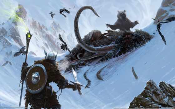 skyrim, elder, scrolls, art,