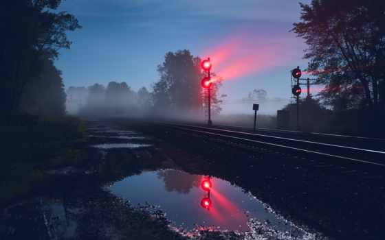 ночь, mac, природа, traffic, railroad, remix, свет, smartphone
