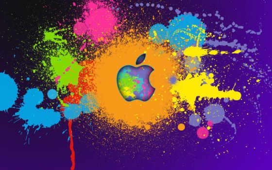 apple - multicolored blobs