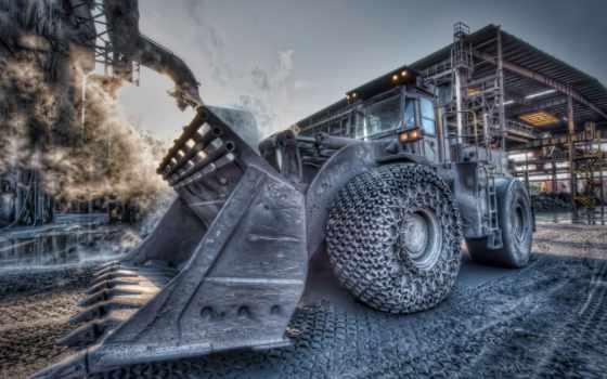 трактор, бульдозер, завод, свой, ковш, совершенно, тракторы,