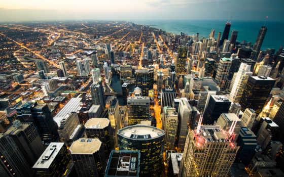 chicago, панорама, город