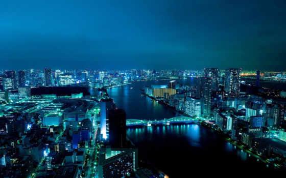 широкоформатные, город, ночь