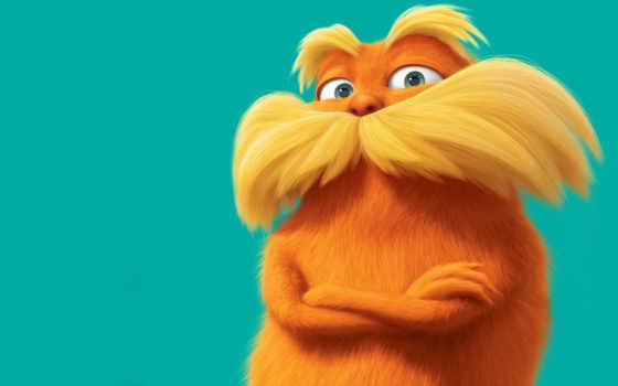 лоракс, lorax, online, смотреть, cartoon, оранжевый, seuss, dr, white, усатый,