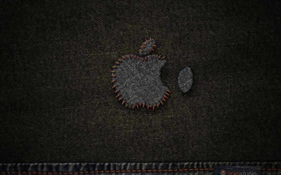 apple, виде, логотипа, джинса, разных, эпл, getbg, минимализм, разрешениях, машины, окно,