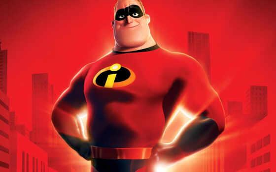incredible, incredibles, боб, parr, pixar, disney, суперсемейка,