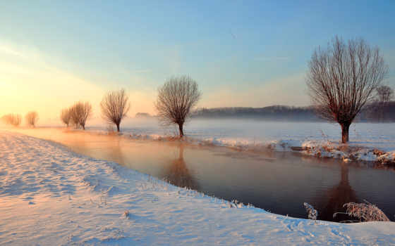 весна, пришла, природа, река, растаяла,