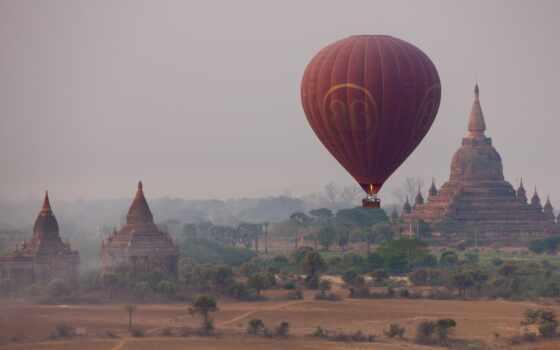 мяч, aerial, баган, шара, воздушного, корзины, столицей, бирмы, тысячелетия, прошлого, начале,
