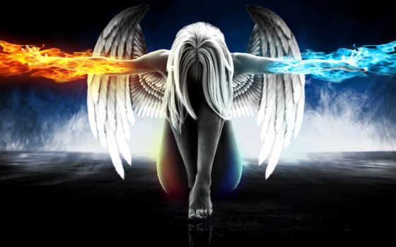 огонь, ангелы, девушка, devushki, angel,