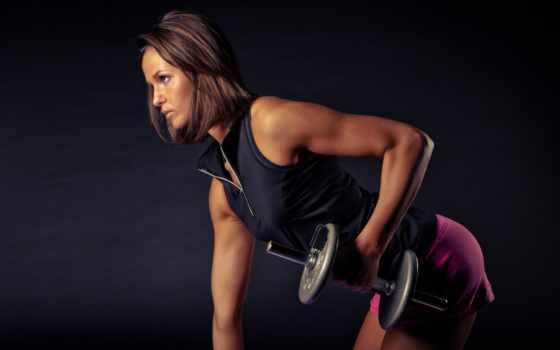 девушка, спорт, dumbbell, фитнес, коллекция, тренировочный, женщина