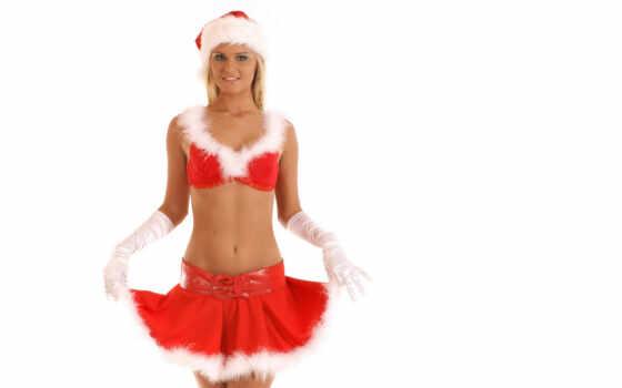 купальники, christmas, png, sexy, девушка, санта, прозрачный, новый год