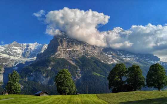 summer, have, поле, stolaoboi, станция, гора, облако, дерево