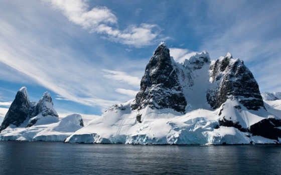 снег, вода, скалы, море, лед, горы, winter, картинка, with, пейзажи, арктики, magic, arctic,арктику,рисунки, холодное,