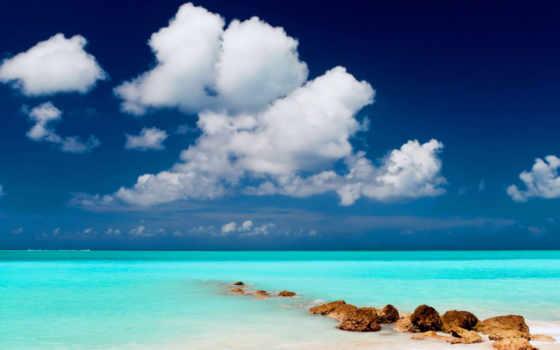 природа, море, облака