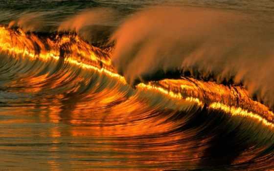 волна, new, золотистый, added, waves, resolution, кб,