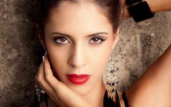 kobieta, usta, czerwone, kolczyki, tapety, piękna, biżuteria, puzzle, makijaż, pulpit,